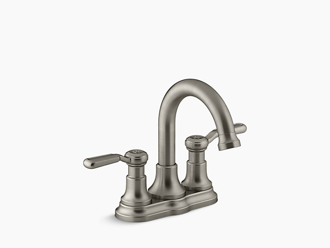 K r76256 4d worth two handle centerset bathroom faucet - Kohler two tone bathroom faucets ...
