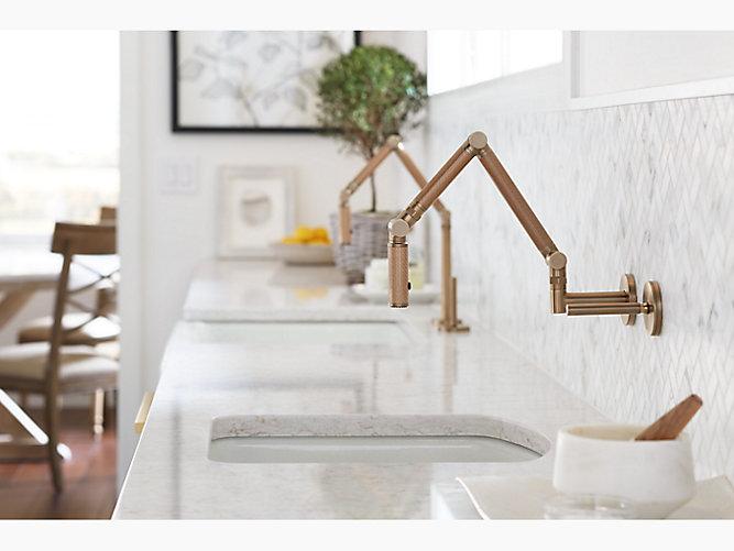 Karbon Articulating Kitchen Sink Faucet with Sprayhead   K-6228-C15 ...