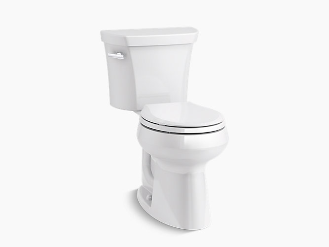 round front toilet dimensions. KOHLER  K 5481 Highline Comfort Height two piece round front 1 28 gpf