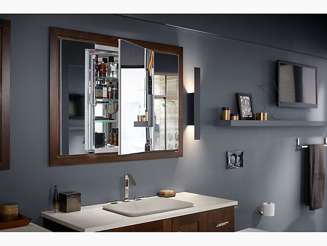 K 99011 Verdera Medicine Cabinet With Triple Mirrored