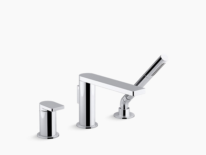K-73078-4 | Composed Single-Handle Bath Faucet with Handshower ...