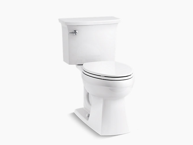 K 45983 Elmbrook The Complete Solution Comfort Height Two Piece Elongated 1 28 Gpf Toilet Kohler