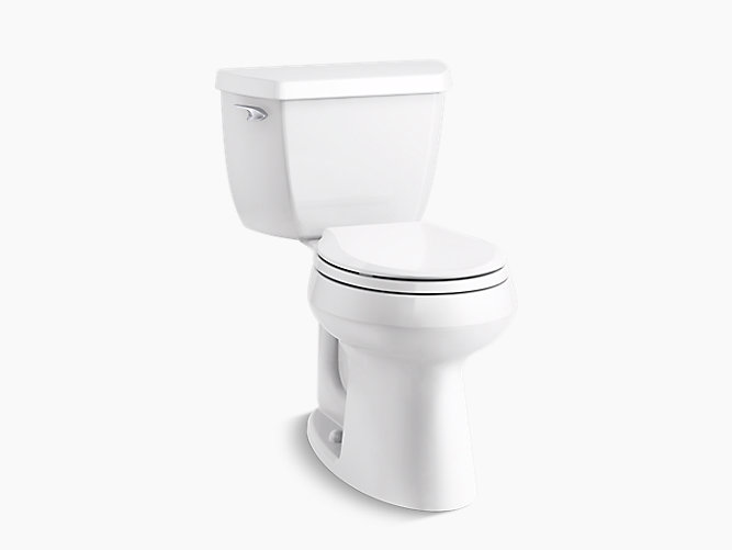 Highline Classic Comfort Height Two Piece Round Front 1 28 Gpf Toilet With Class Five Flush Technology And Left Hand Trip Lever K 5296 Kohler Kohler