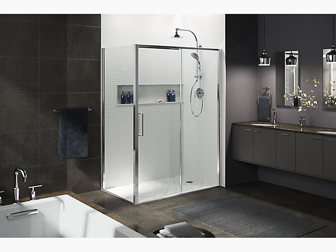 K 706093 L Torsion Sliding Shower Door With Return