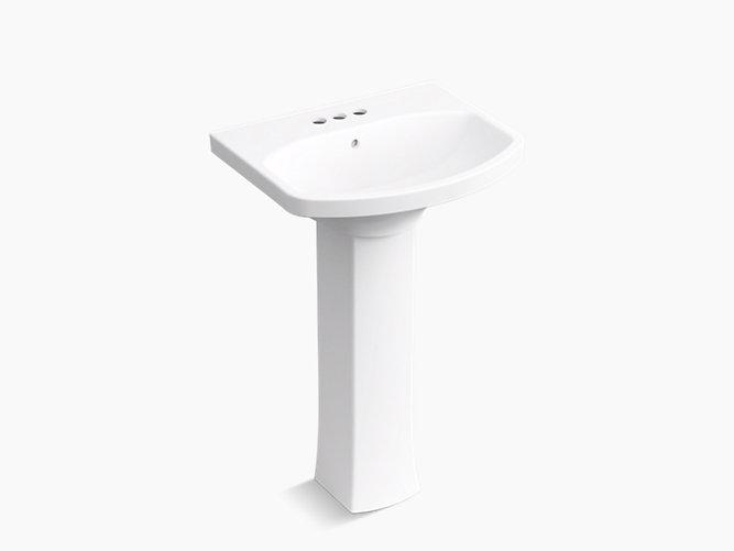 K R5435 4 Elmbrook Pedestal Bathroom Sink With 4 Centerset Faucet Holes Kohler