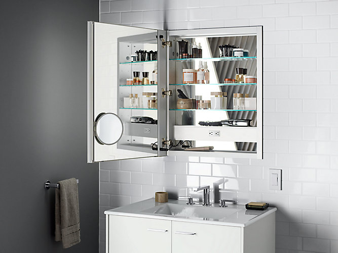 K 99007 Tl Verdera 174 Lighted Medicine Cabinet 24 Quot W X 30 Quot H Kohler