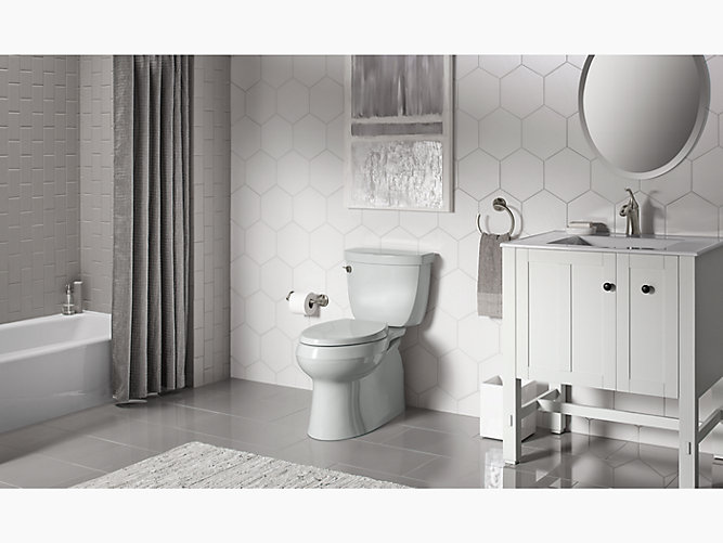 K 5310 Cimarron Skirted Trapway Elongated Toilet Kohler
