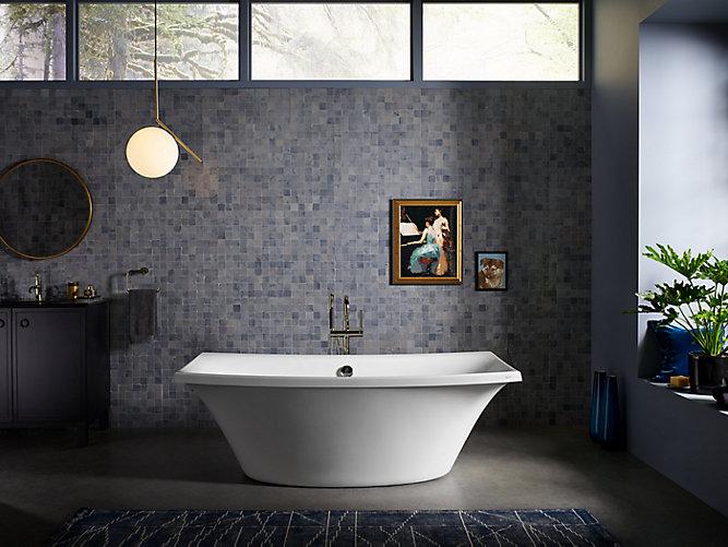 escale 6 foot freestanding bath k 14037 kohler. Black Bedroom Furniture Sets. Home Design Ideas