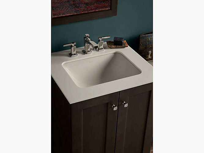 K Caxton Rectangular Undermount Bathroom Sink With - Kohler bathroom sink drain assembly