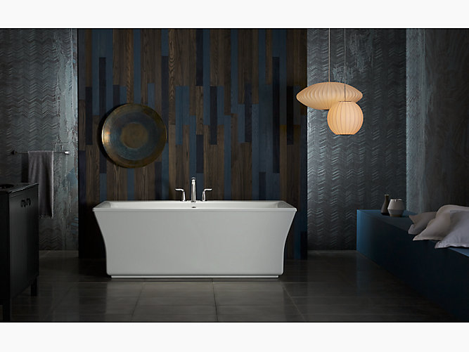 K 6367 Stargaze Freestanding Bath Fluted Shroud Kohler