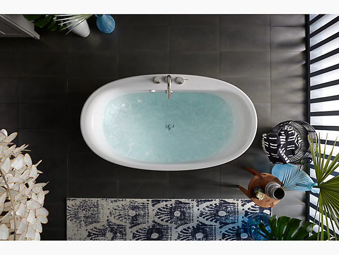 Sunstruck Freestanding Bath, Straight Shroud | K-6368 | KOHLER