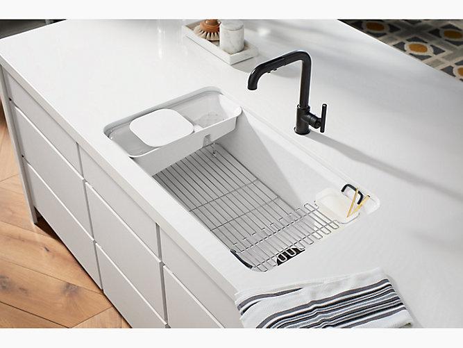 Riverby Undermount Workstation Kitchen Sink W Accessories K 5871 5ua3 Kohler Kohler