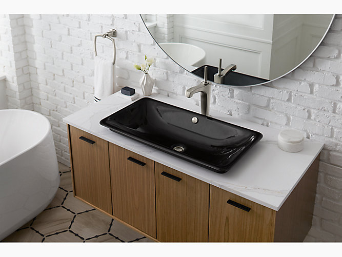 K 20212 P5 Iron Plains Trough Rectangle Bathroom Sink Kohler