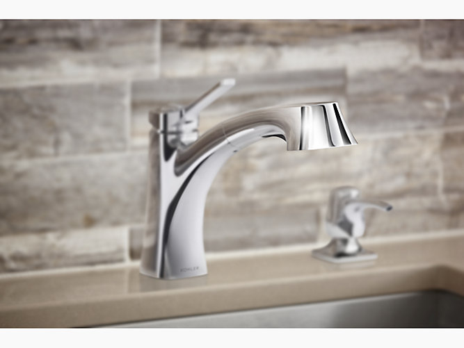 K R30124 Sd Maxton Pull Out Kitchen Faucet With Soap Dispenser Kohler