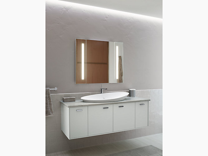 k 99572 tl verdera 174 lighted mirror 34 quot w x 33 quot h kohler 13382