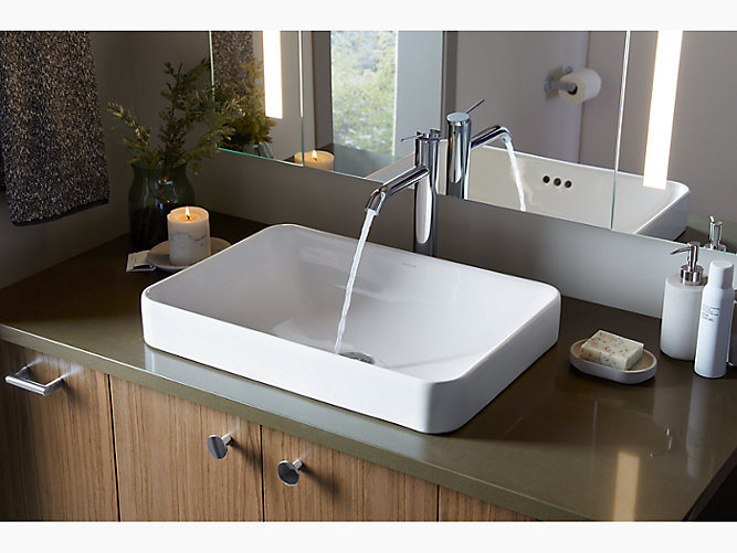 Vox Rectangle Vessel Bathroom Sink