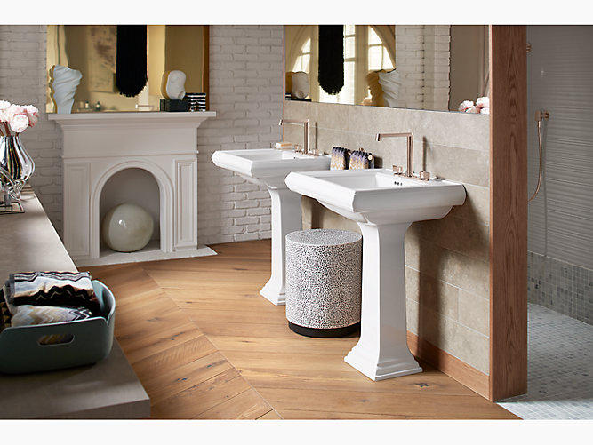 K 2238 8 Memoirs Pedestal Sink With Classic Design 8 Inch Centers Kohler