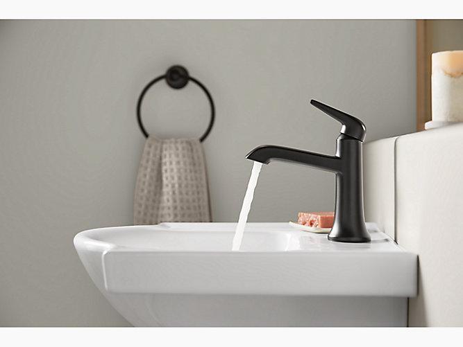 K 22022 4 Tempered Single Handle Bathroom Sink Faucet