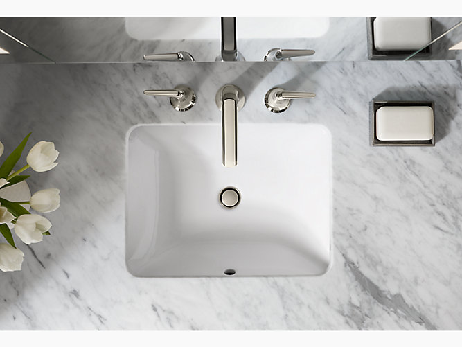 K 20000 Caxton 174 Rectangular Under Mount Bathroom Sink