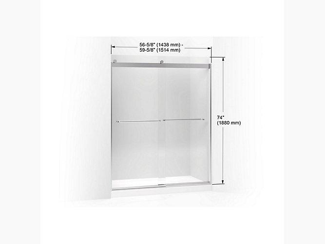 K 706015 L Levity Frameless Sliding Shower Door Kohler