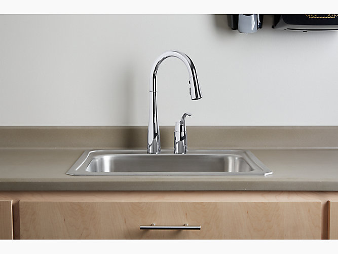 Simplice® two-hole kitchen sink faucet with 16-1/8\