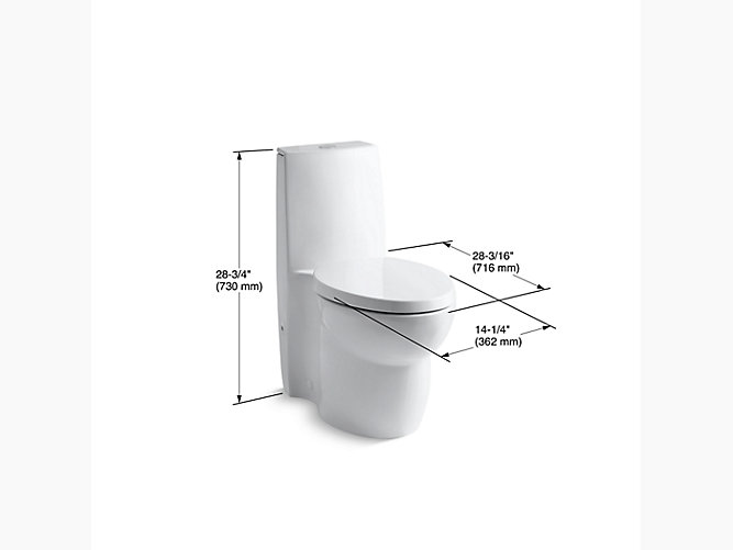 Kohler K 3564 Saile One Piece Compact Elongated Dual Flush Toilet Kohler