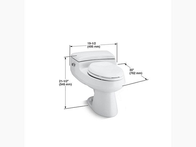Kohler K 3597 San Raphael Pressure Lite One Piece 1 0 Gpf Toilet Kohler