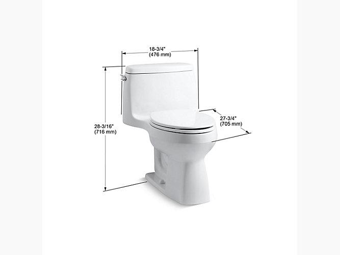 Kohler K 3810 Santa Rosa Comfort Height One Piece 1 28 Gpf Toilet Kohler