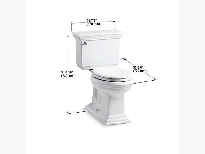 Kohler K 3817 Memoirs Stately Comfort Height Elongated 1 28 Gpf Toilet Kohler