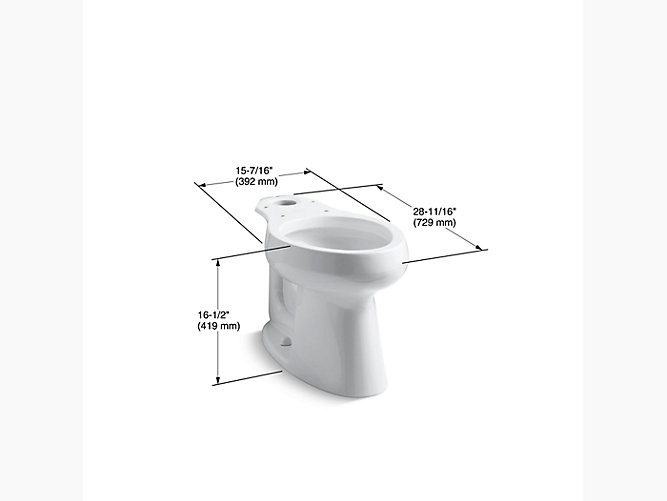 Easy Bathrooms Alfrick Comfort Height Back To Wall Toilet Soft Close Seat
