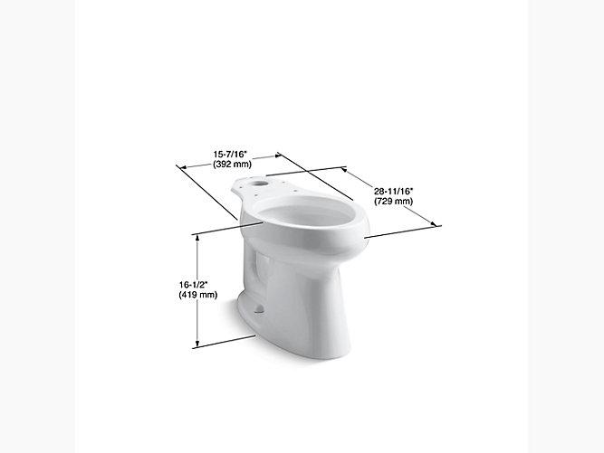 Kohler K 4199 Highline Comfort Height Elongated Toilet