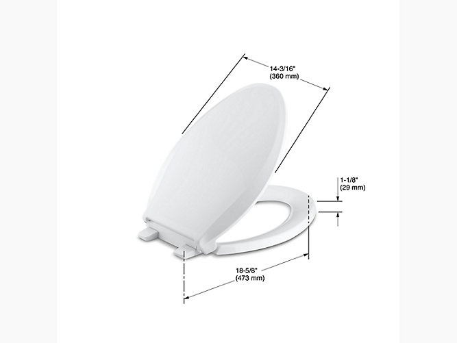 K-4636 | Cachet Quiet-Close Elongated Toilet Seat | KOHLER
