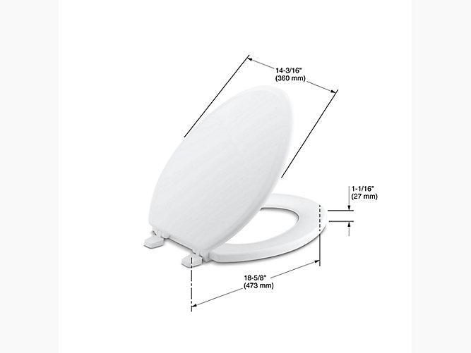 K 4694 Ridgewood Elongated Toilet Seat Kohler