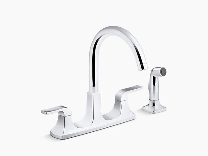 K R26582 Rubicon Two Handle Kitchen Faucet Kohler
