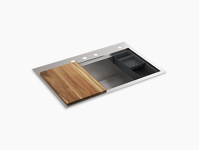 K Rh23374 4pc Lyric Workstation Kitchen Sink Kohler