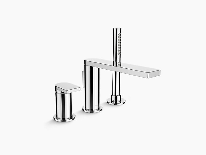 Composed™ Deck-Mount 3-Hole Bath Filler and Handshower