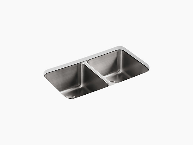 29 Double Equal Stainless Steel Kitchen Sink 3171 Kohler