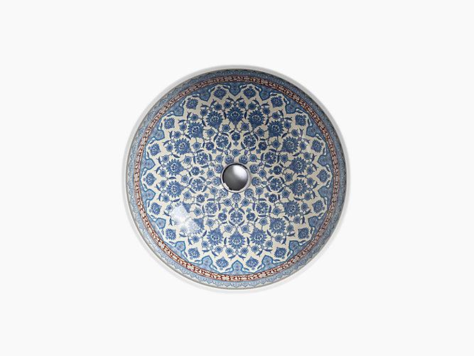 K 14046 Bu Marrakesh Design On Camber Undermount Sink