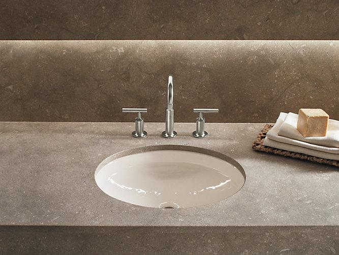 K 2874 canvas cast iron undermount sink and overflow - Kohler undermount bathroom sinks ...