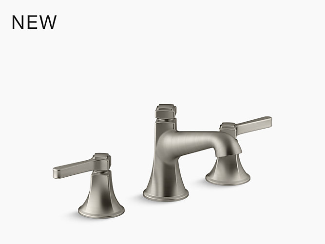 fairfax widespread sink faucet with lever handles | k-12265-4 | kohler