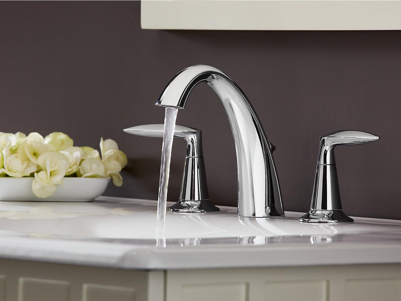 KOHLER | 45102-4 | Alteo widespread bathroom sink faucet with lever ...