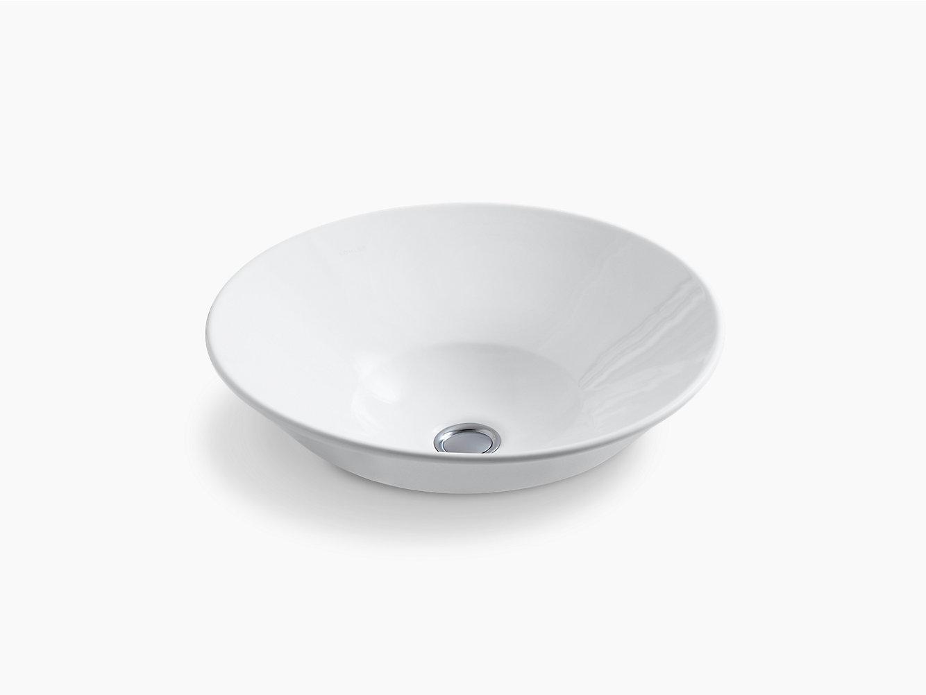 Kohler k 2200 vitreous china lavatory sink contemporary bathroom sinks - View Larger