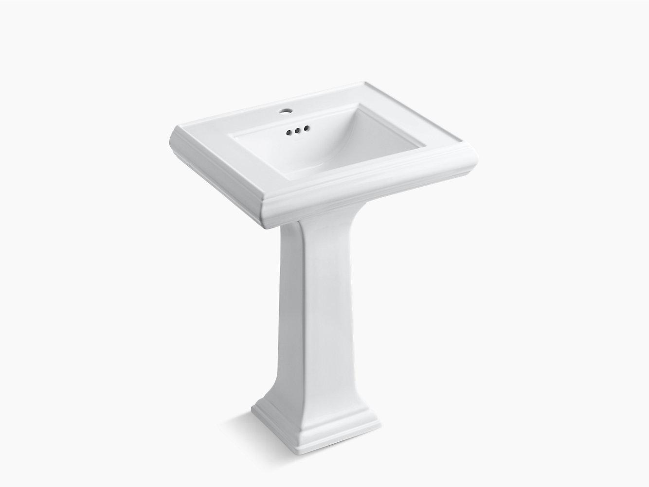 Kohler Memoirs Pedestal Sink Corner Sink Small Befon For White U0026 Gray Bathroom Design With