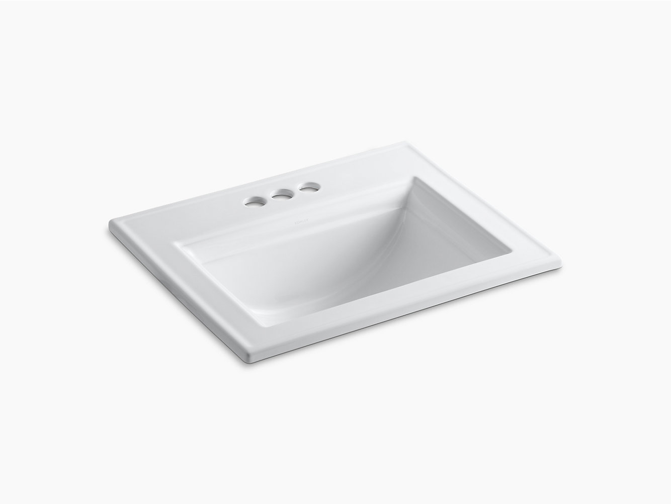 Memoirs Drop-In Sink with Stately Design, 4-Inch Centers   K-2337-4 ...