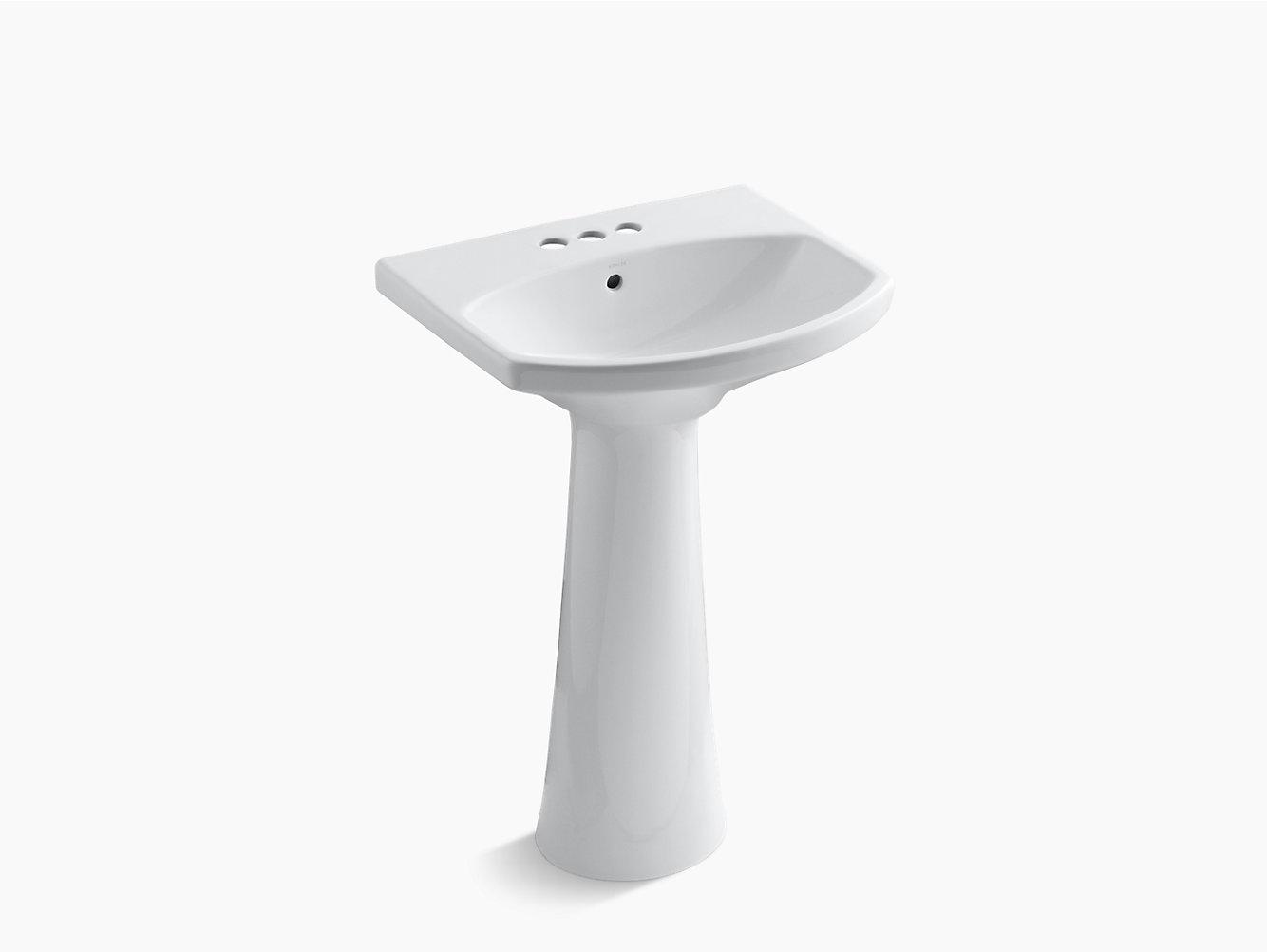 KOHLER | 2362-4 | Lavabo de pedestal Cimarron, con perforaciones ...