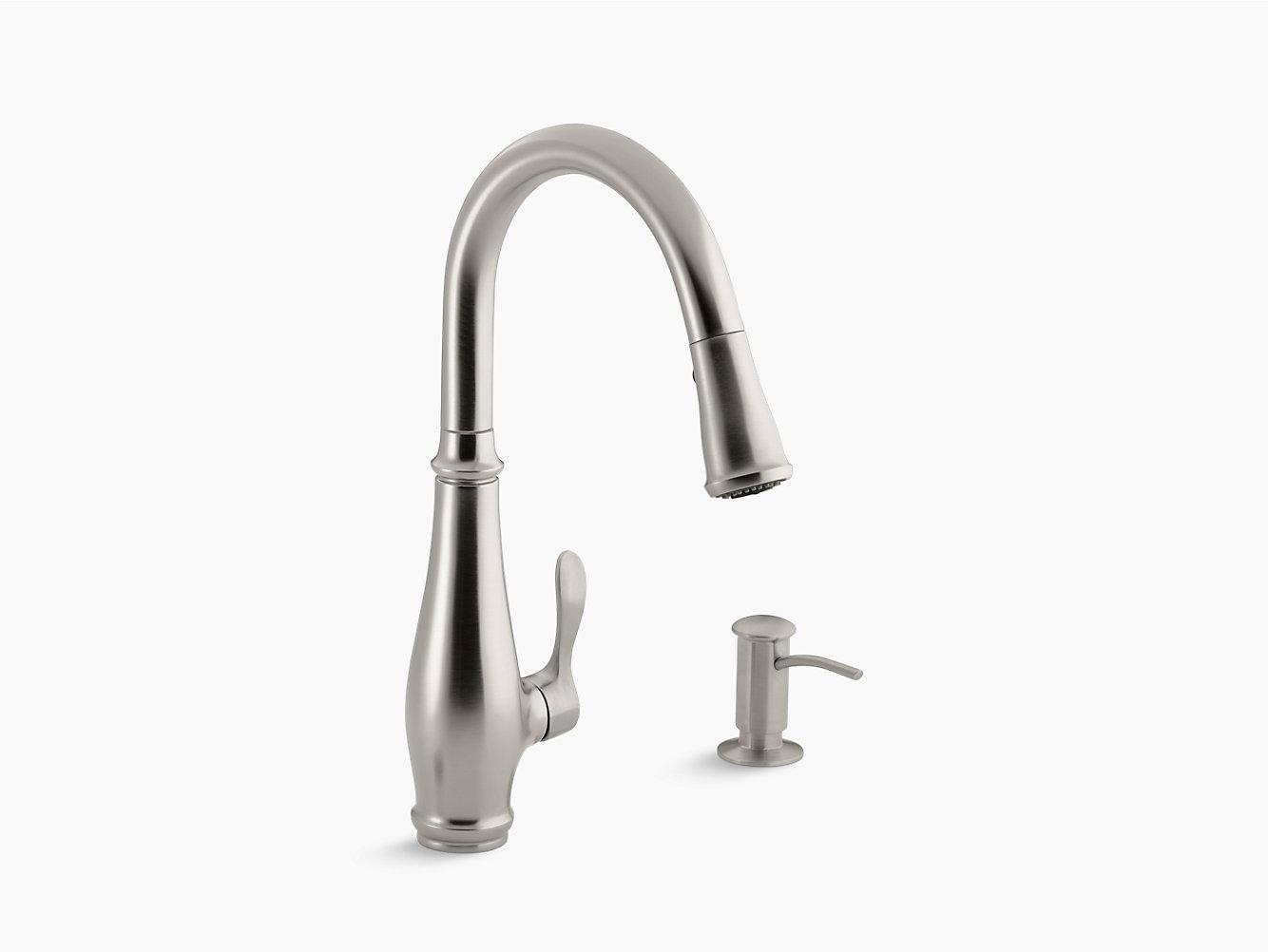 Cruette Pull-Down Kitchen Faucet w/ Dispenser | K-R780 | KOHLER