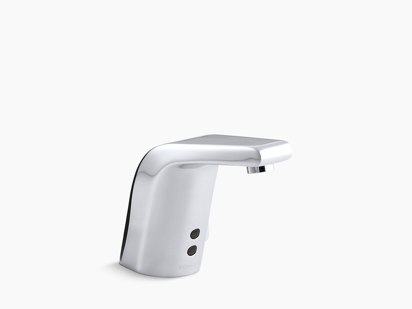 KOHLER | 7515 | Sculpted single-hole Touchless hybrid energy cell-powered commercial bathroom sink faucet with Insight technology, temperature mixer and ...