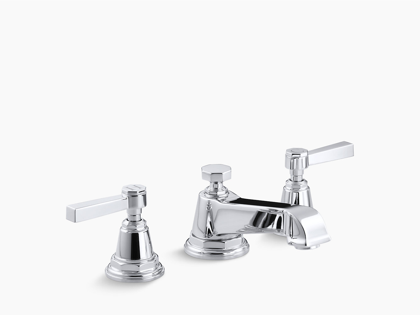 Pinstripe Widespread Sink Faucet with Pure Design | K-13132-4A | KOHLER