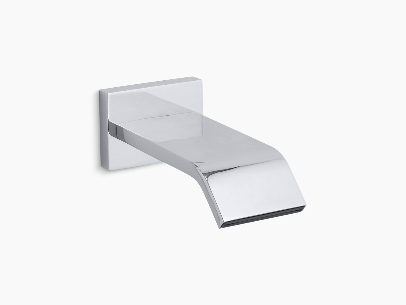 Loure Wall-Mount 9-3/4-Inch Non-Diverter Bath Spout | K-14676 | KOHLER