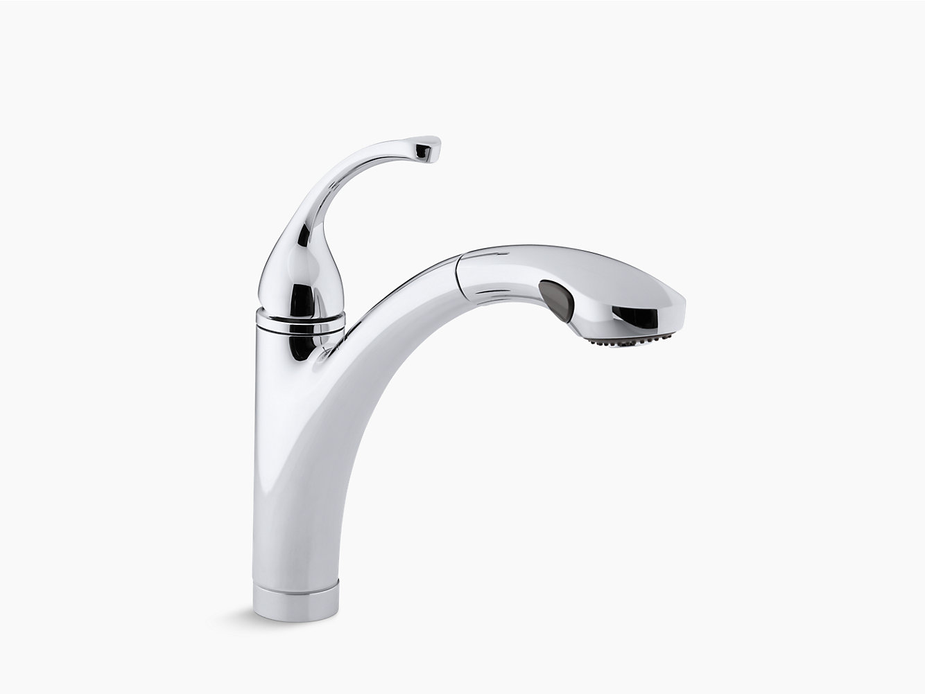 KOHLER | 10433 | Forté single-hole or 3-hole kitchen sink faucet ...